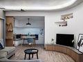 80平米现代简约风格客厅橱柜装修图片大全