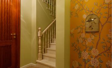 富裕型140平米别墅田园风格楼梯图片