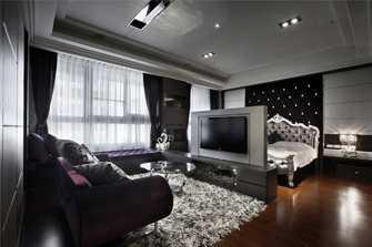 130平米四英伦风格客厅设计图