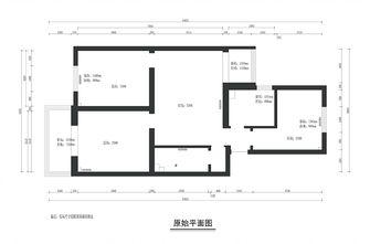5-10万80平米三室两厅法式风格客厅图