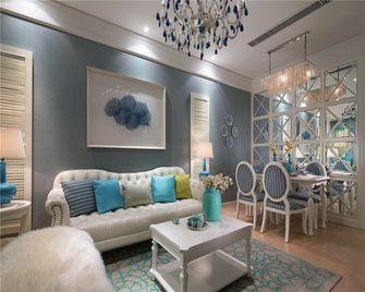 90平米三室两厅法式风格客厅装修图片大全
