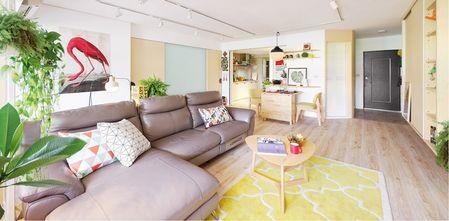 80平米三室一厅北欧风格客厅欣赏图