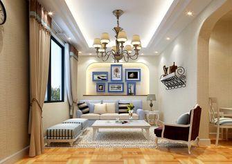 富裕型140平米三室两厅田园风格影音室欣赏图