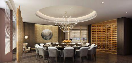 140平米英伦风格餐厅图片