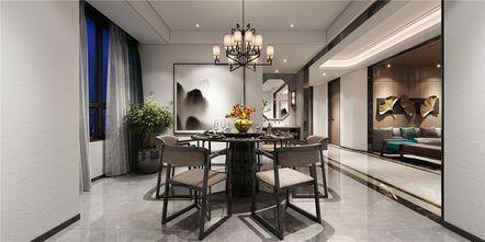 140平米三室三厅中式风格餐厅设计图