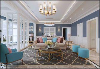 130平米四室两厅欧式风格客厅欣赏图