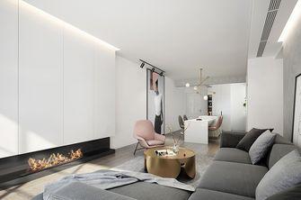 110平米三室两厅现代简约风格客厅背景墙图片