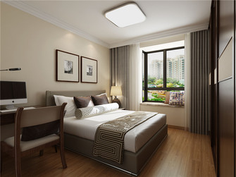 110平米三室两厅中式风格卧室装修效果图
