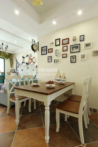 80平米三室两厅地中海风格餐厅图片大全