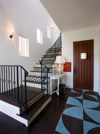 80平米地中海风格楼梯间效果图