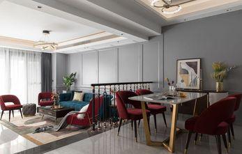 110平米复式现代简约风格餐厅装修图片大全