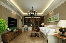 100平米三室两厅田园风格客厅装修案例