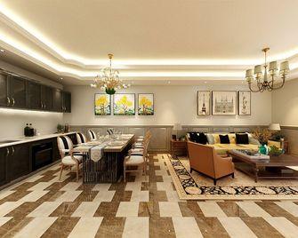 130平米四室一厅美式风格餐厅效果图