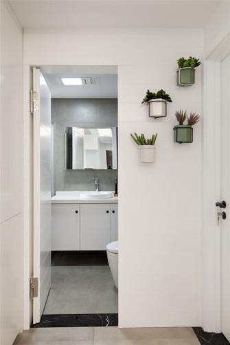 80平米一室两厅现代简约风格卫生间图片