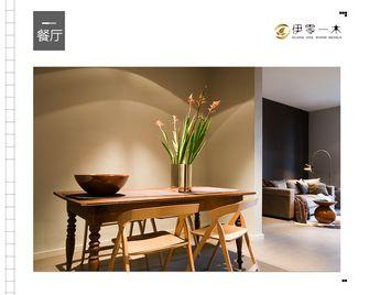 10-15万100平米一室一厅英伦风格餐厅欣赏图