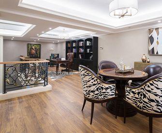 110平米三室一厅混搭风格书房图片大全