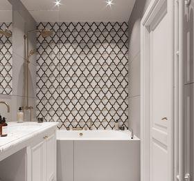 90平米新古典风格卫生间设计图
