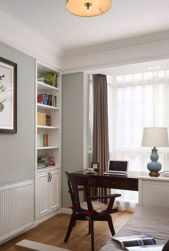 130平米三室一厅美式风格书房欣赏图