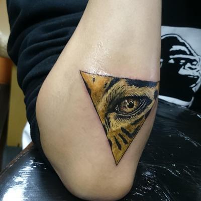 虎纹身款式图
