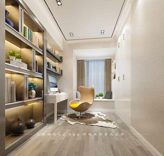 130平米四室两厅现代简约风格书房橱柜装修图片大全