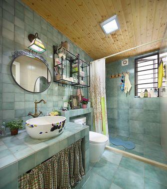 110平米三室两厅田园风格卫生间图片