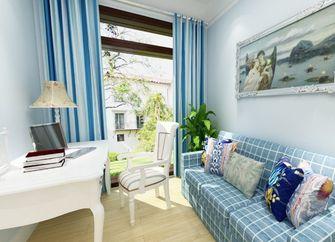 富裕型90平米三室两厅地中海风格书房图片