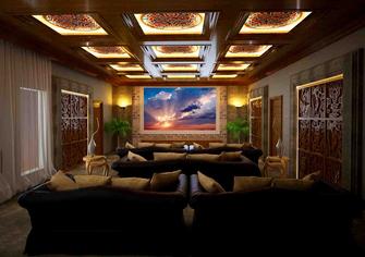 140平米四中式风格影音室图
