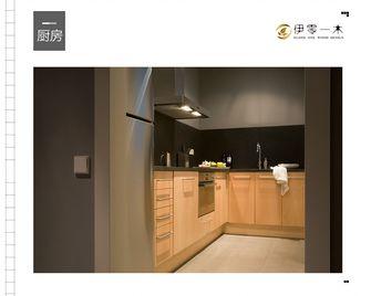 10-15万100平米公寓英伦风格厨房设计图