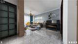 100平米三室两厅现代简约风格客厅装修案例