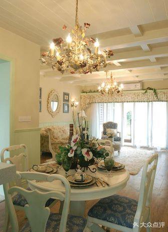 140平米三室一厅田园风格客厅沙发装修图片大全