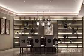 140平米別墅中式風格餐廳圖