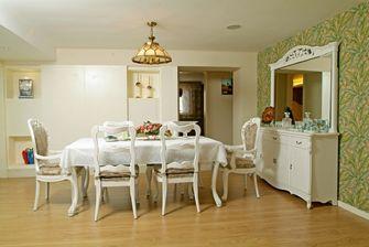 经济型140平米三室三厅田园风格餐厅欣赏图