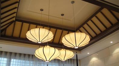 富裕型140平米别墅中式风格玄关装修图片大全