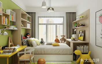 80平米现代简约风格儿童房图