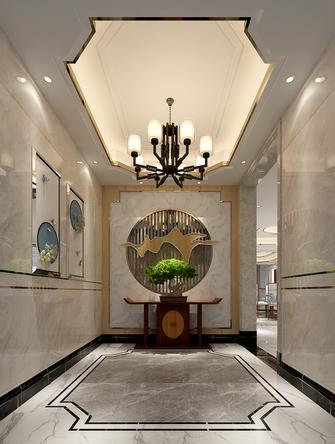 140平米别墅中式风格玄关设计图
