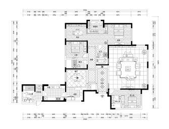 140平米四室三厅新古典风格楼梯间欣赏图