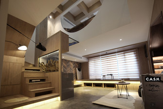 30平米小户型日式风格客厅图