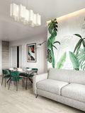 100平米混搭风格客厅图片