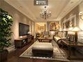 140平米别墅美式风格客厅沙发装修案例