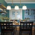 110平米三室三厅美式风格餐厅装修图片大全