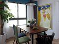 5-10万140平米三室一厅田园风格餐厅图