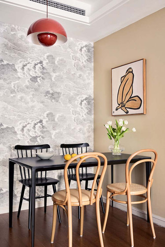 90平米法式风格餐厅图片