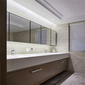130平米四室一廳現代簡約風格衛生間欣賞圖
