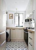 60平米公寓法式风格厨房图