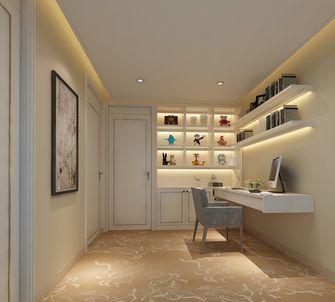 80平米三室两厅法式风格书房效果图
