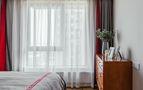 120平米三室一厅现代简约风格卧室飘窗图