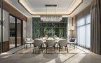 豪华型140平米别墅现代简约风格餐厅飘窗装修效果图