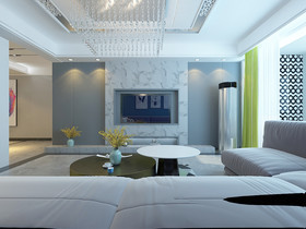 140平米四室兩廳現代簡約風格客廳圖片