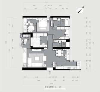 130平米三室两厅现代简约风格客厅效果图