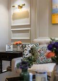 120平米三室两厅美式风格客厅背景墙装修效果图